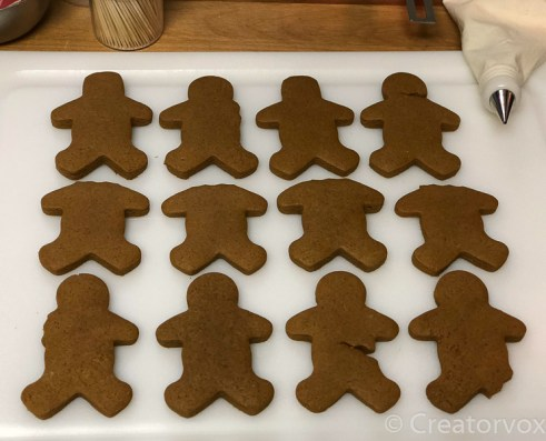 spooky gingerbread men baked and ready to decorate 2