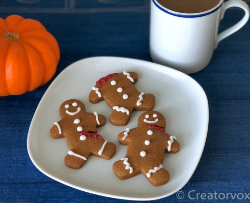 spooky gingerbread men on a plate 2