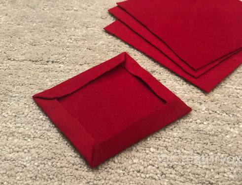 red flannel pocket hand warmers pressed