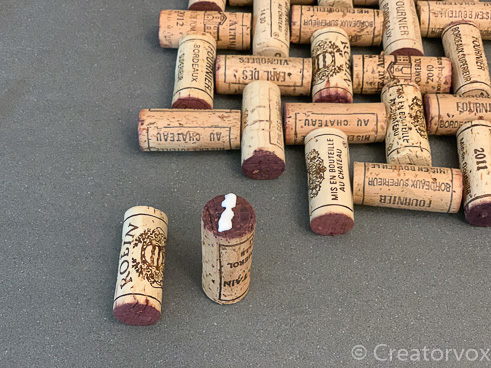 wine cork trivet project first cork glued