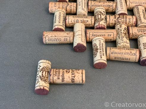 wine cork trivet project second cork glued