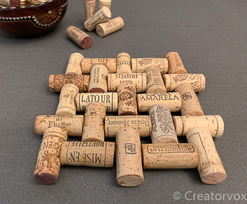 wine cork trivet with all different corks