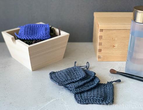 reusable makeup wipes blue linen