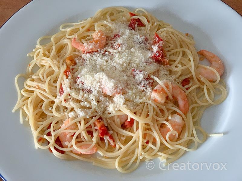 recipe for shrimp pasta in ten minutes