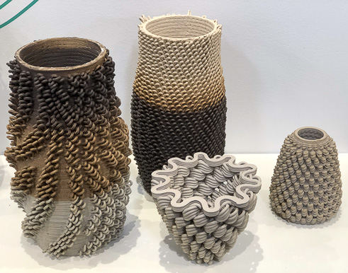 3-D printed vases from The Bottery