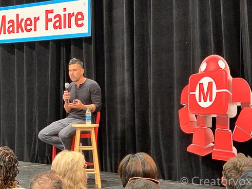 Ben Uyeda presenting at Maker Faire 2019