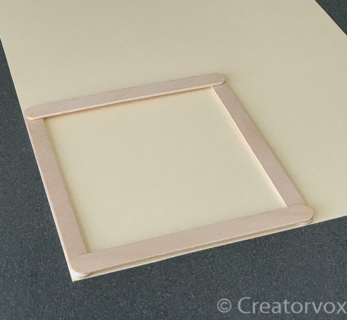 making a square frame for a DIY nightlight shade
