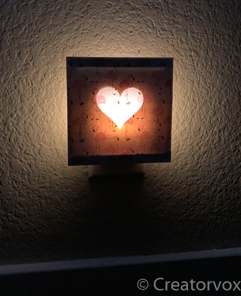 nightlight with heart silhouette