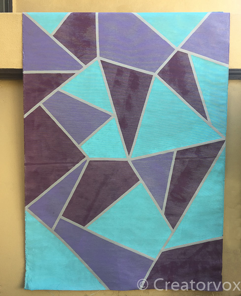 abstract removable fabric wall mural DIY