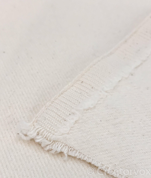 detail of flannel twill selvedge