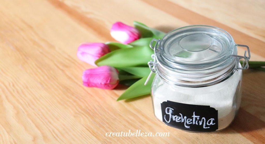 Grenetina para fortalecer el cabello, huesos y uñas naturalmente