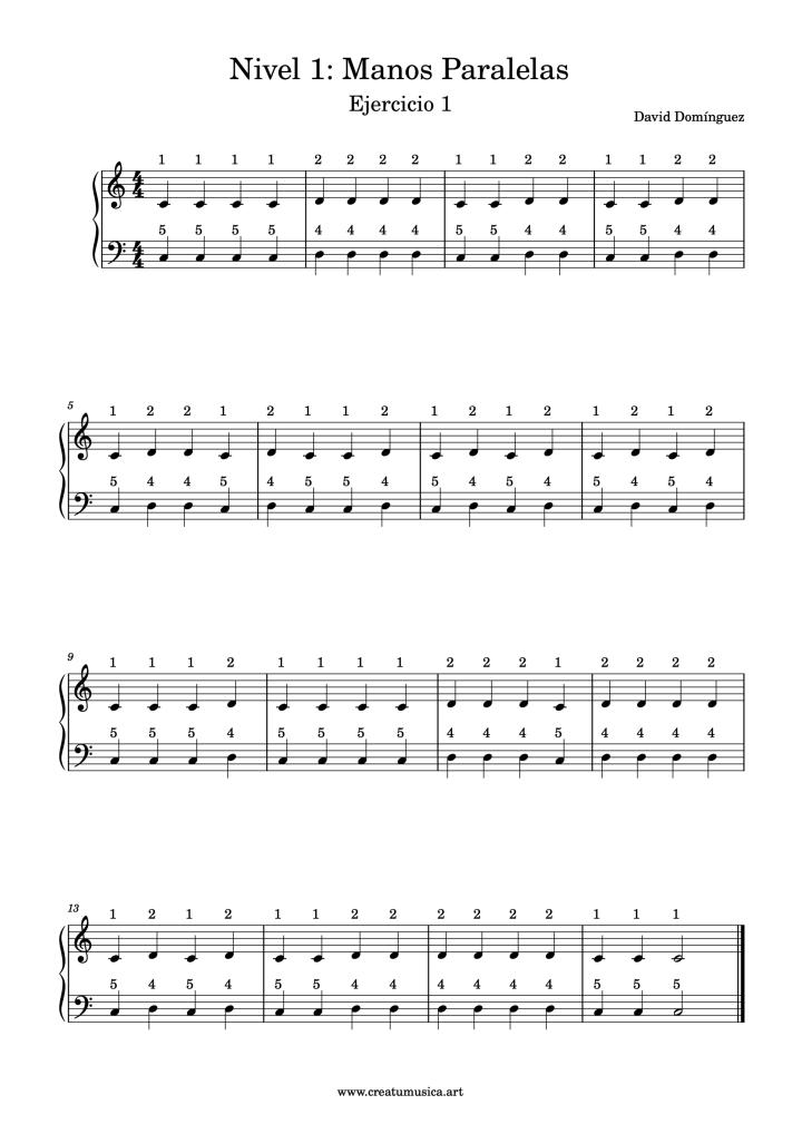 Piano Nivel 1 Ejercicio 1