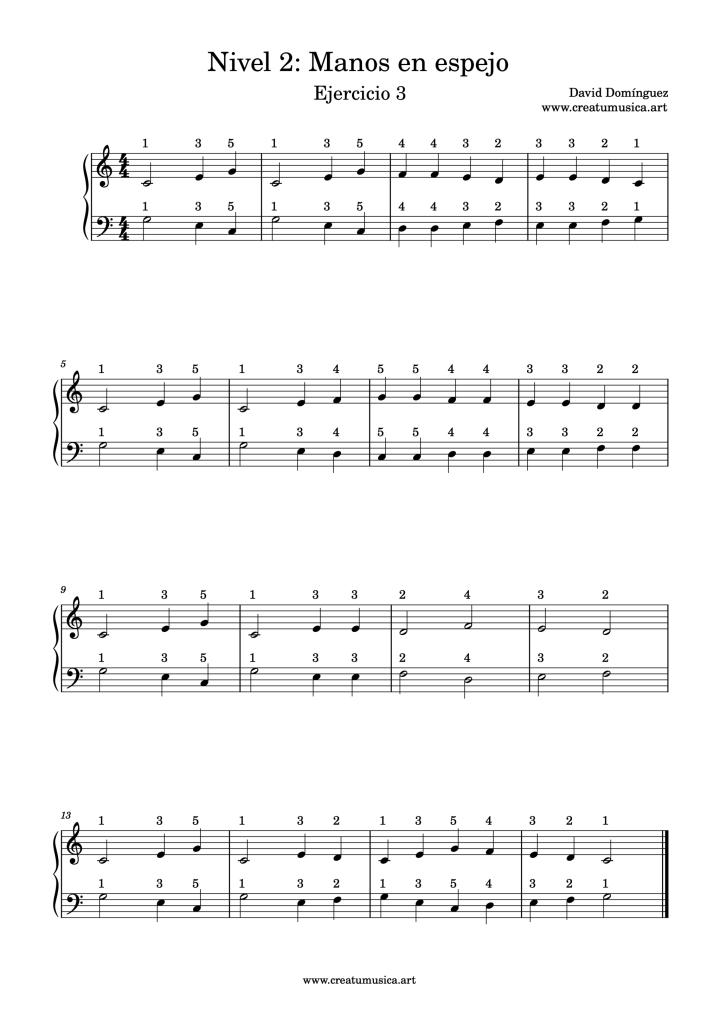 Ejercicio 3 Nivel 2 Piano