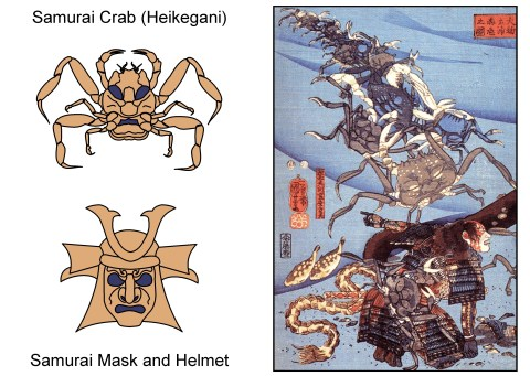 samurai crab and mask new color