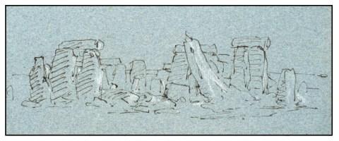 turner stonehenge drawing 1799 xb
