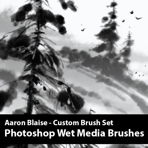 Photoshop Wet Media Brushes