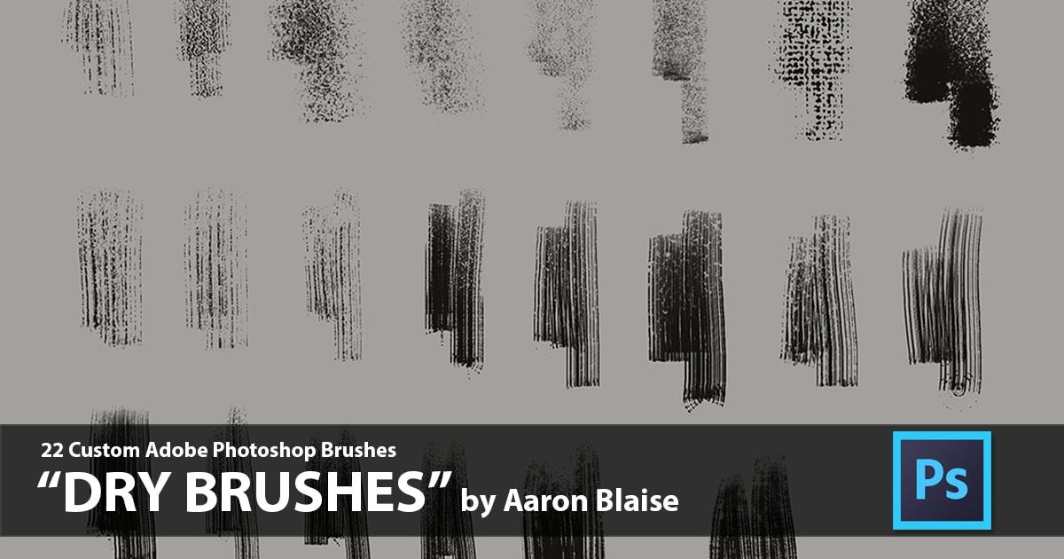 Dry Brushes - Photoshop Custom Brush Set
