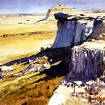 field study paintings with Ronnie Williford