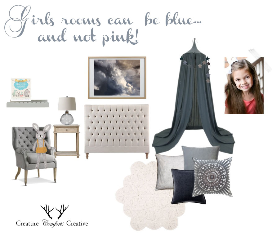 girls blue bedroom idea