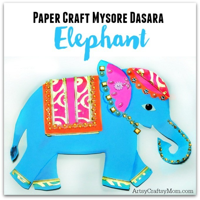 Asian elephsnt paper craft