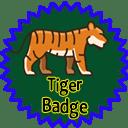 Siberian Tiger Badge
