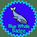 BLue Whale Badge