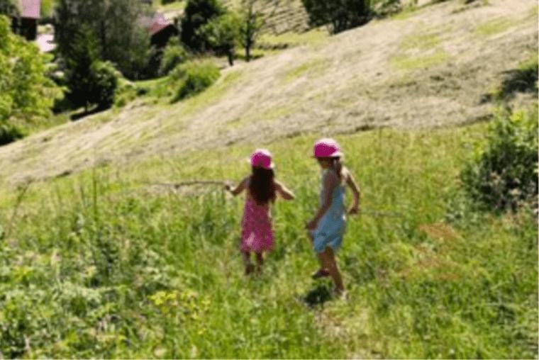 Children Exploring on Nature Walk