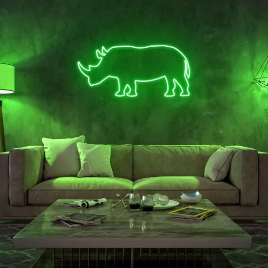 Neon rinoceronte