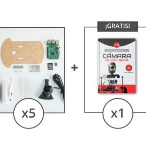5 kits componentes mas 1 libro camara gratis