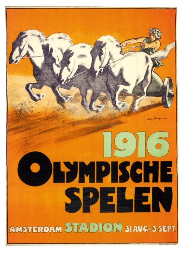 Cartel de los Juegos Olímpicos de Berlín, 1916