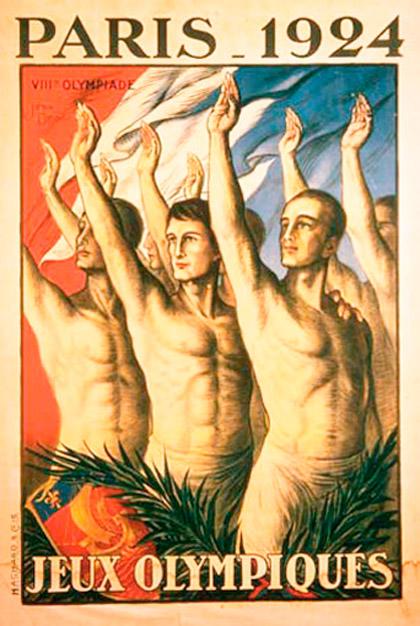 Cartel de los Juegos Olímpicos de París, 1924