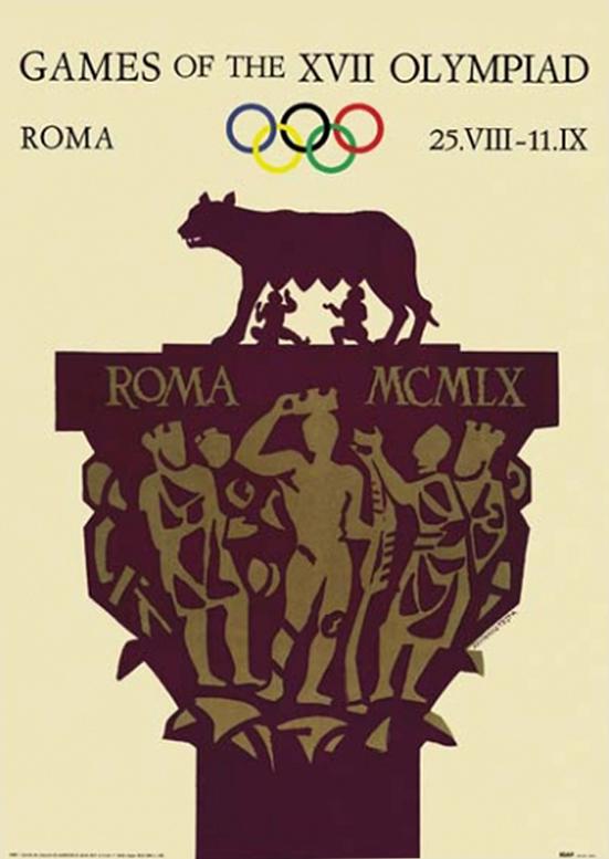 Cartel de los Juegos Olímpicos de Roma, 1960