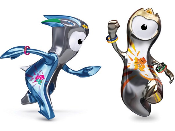 Wenlock y Mandeville, las mascotas de los Juegos Olímpicos de Londres, 2012