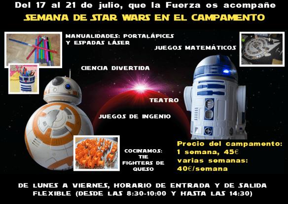 STAR WARS EN EL CAMPAMENTO CON FECHA