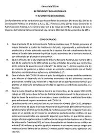 Directriz N°075-H EL PRESIDENTE DE LA REPUBLICA Y EL MINISTRO DE HACIENDA