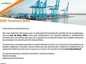 COMUNICADO APM Terminals Moín
