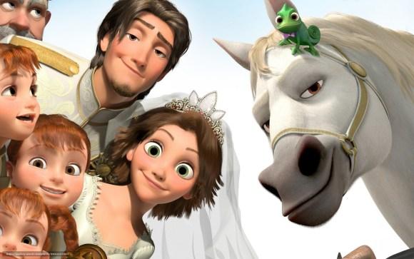 Rapunzel casaram-se e viveram felizes para sempre