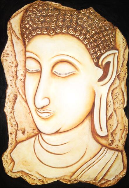 Buddha Mural 3d Wall Art