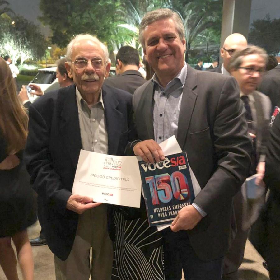 Presidente do Conselho de Administração, Marcos Lourenço Santin e o Diretor-Presidente executivo, Walmir Segatto