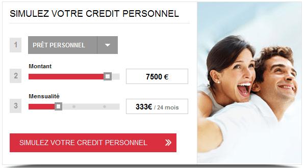 simulation franfinance prêt personnel