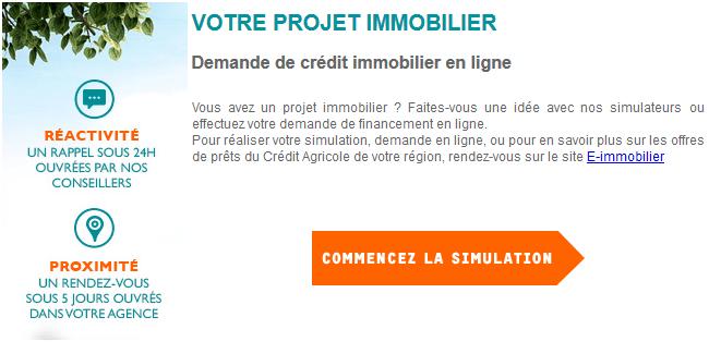 simulation pret immo crédit agricole
