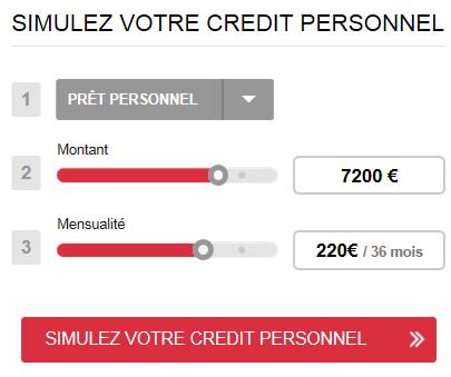 simulation crédit Franfinance