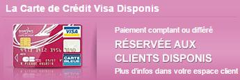 carte de crédit Visa Disponis