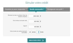 simulation de prêt immobilier BforBank