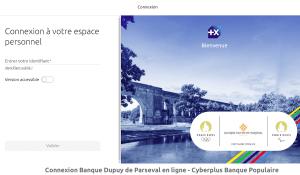 Connexion Banque Dupuy de Parseval en ligne