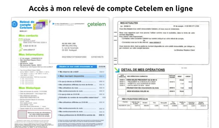 relevé de compte Cetelem