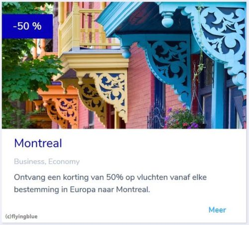 flying blue promo awards februari 2019 montreal