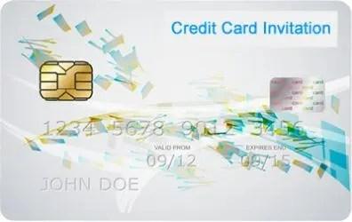 Credit Card Invitation
