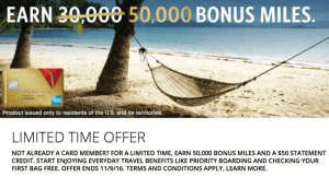 50,000 delta miles with american express