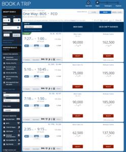 delta award travel booking
